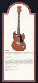 1972 Gibson solid bodies catalogue page 9 - SG100
