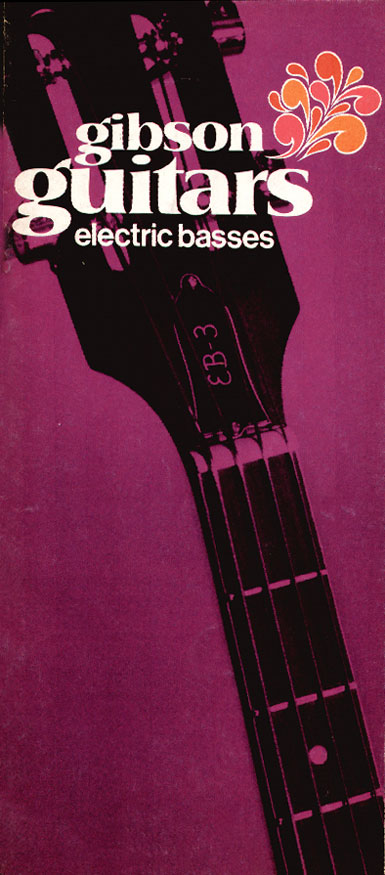 1970 Gibson bass catalogue front cover