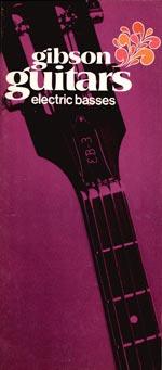 1970 Gibson bass catalogue cover