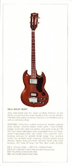 1970 Gibson bass catalogue page 4