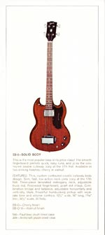 1970 Gibson bass catalogue page 5
