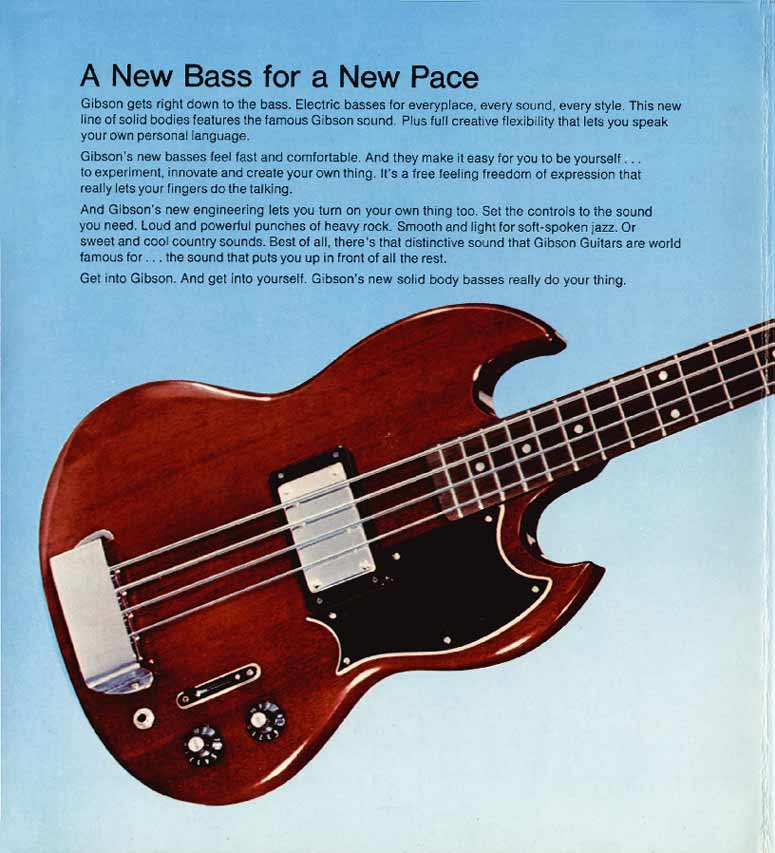 1972 Gibson bass catalogue page 2 - Gibson EB4L bass