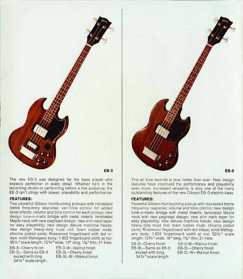 1972 Gibson bass catalogue page 4