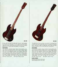 1972 Gibson bass catalogue page 5