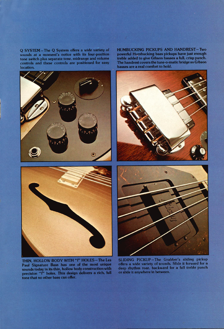 1975 Gibson bass catalogue page 3