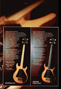 1975 Gibson bass catalogue page 5