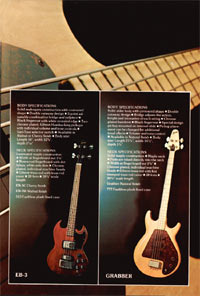 1975 Gibson bass catalogue page 7