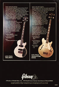 1975 Gibson bass catalogue page 8