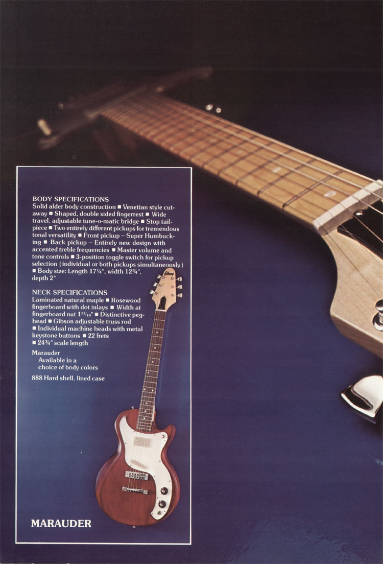 1975 Gibson solid body catalogue page 10 - Marauder