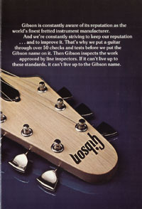1975 Gibson solid body catalogue page 11