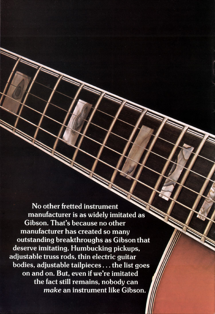 1975 Gibson solid body catalogue page 4 L5-S