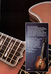 1975 Gibson solid body catalogue page 5