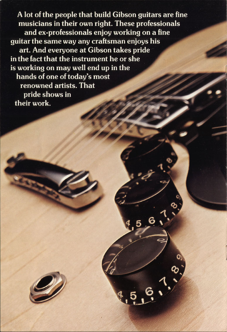 1975 Gibson solid body catalogue page 6 L6-S