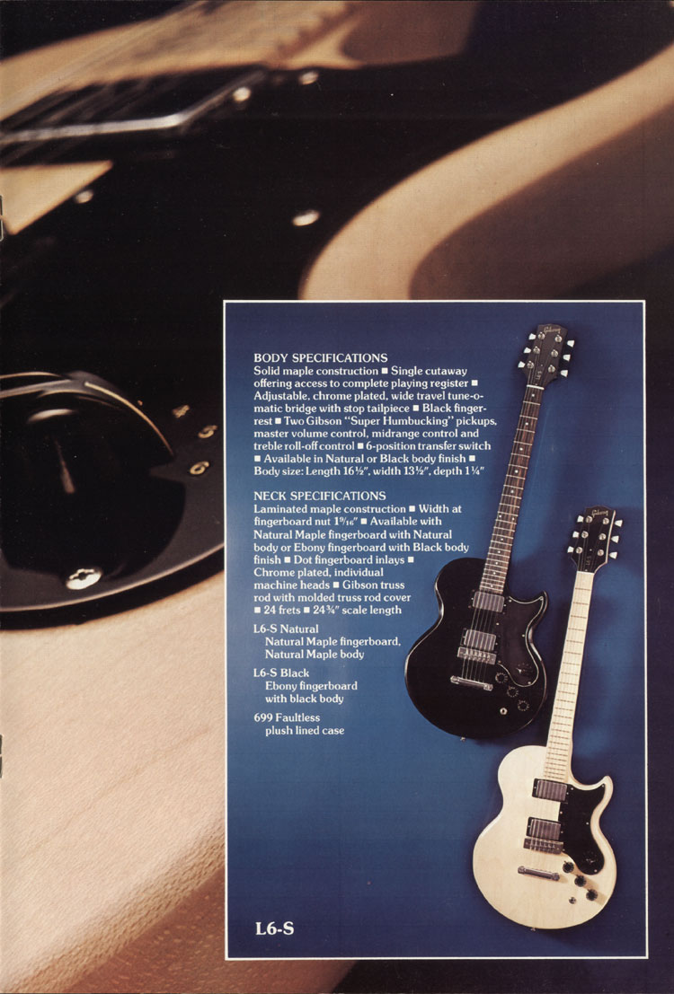 1975 Gibson solid body catalogue page 7 L6-S