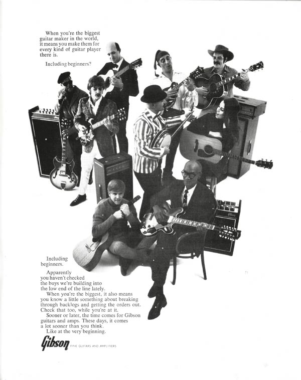 Gibson advertisement (1968) Including beginners