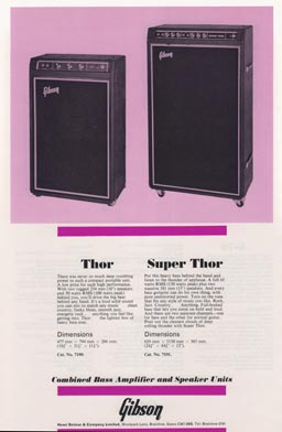 1974 Selmer (UK) amp catalogue - Gibson Thor and Super Thor