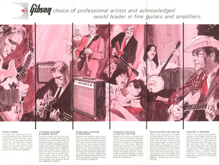 1966 Gibson catalogue page 2