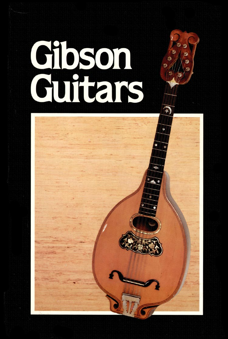 1980 Gibson guitar, bass and banjo catalogue front cover