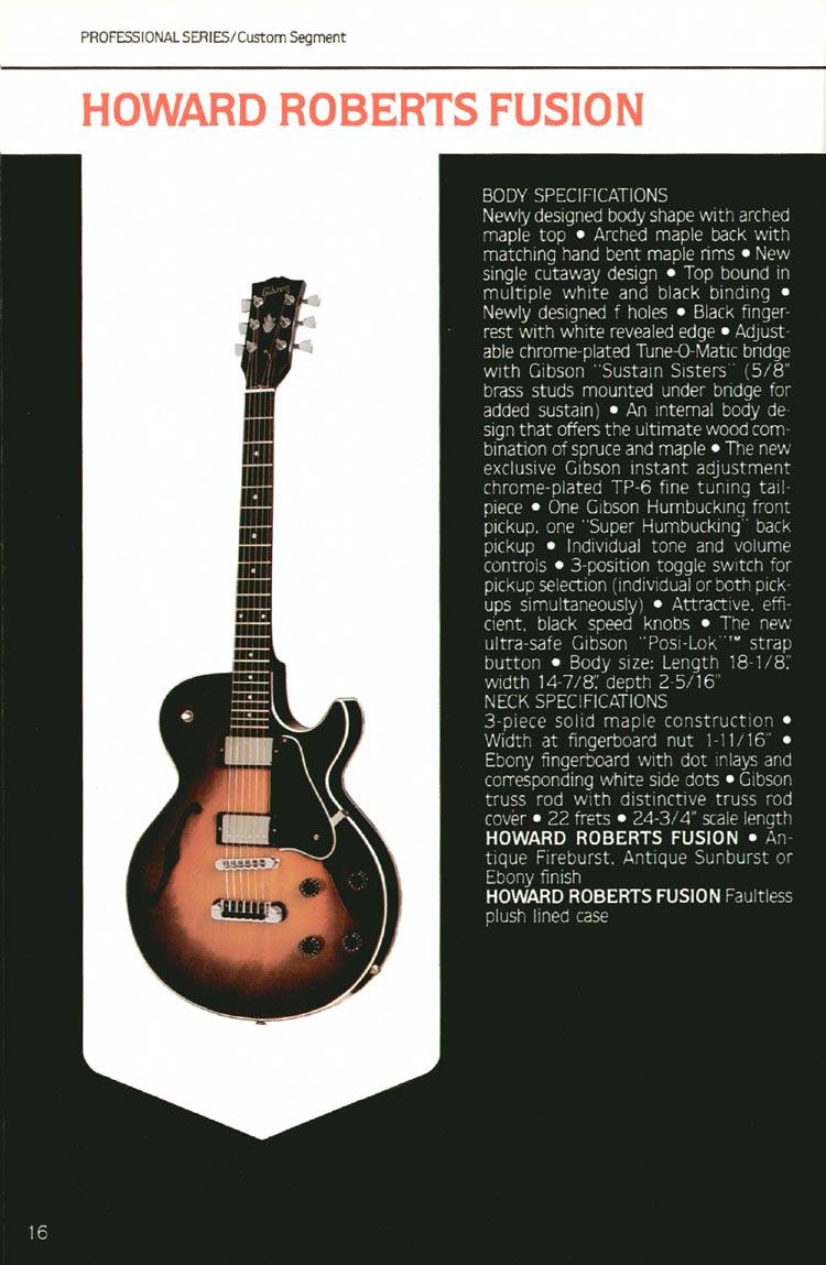 1980 Gibson guitar, bass and banjo catalogue - P16. Gibson Howard Roberts Fusion