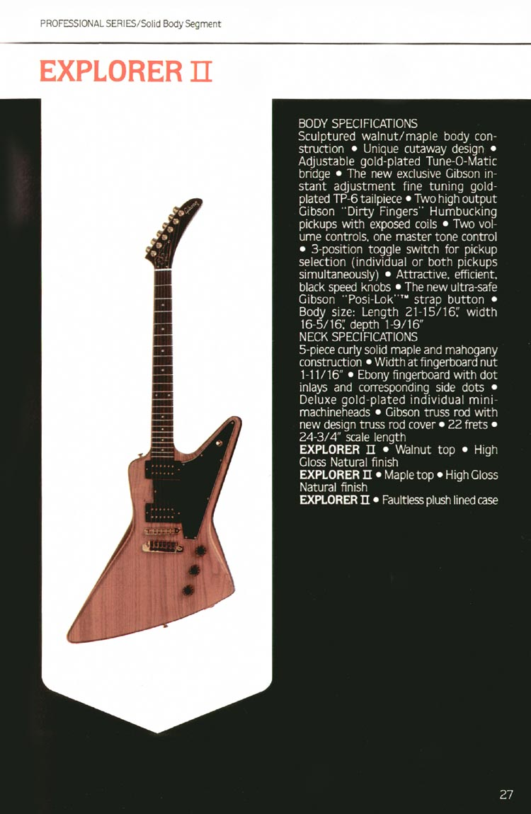 1980 Gibson guitar, bass and banjo catalogue - page 27 - Explorer II