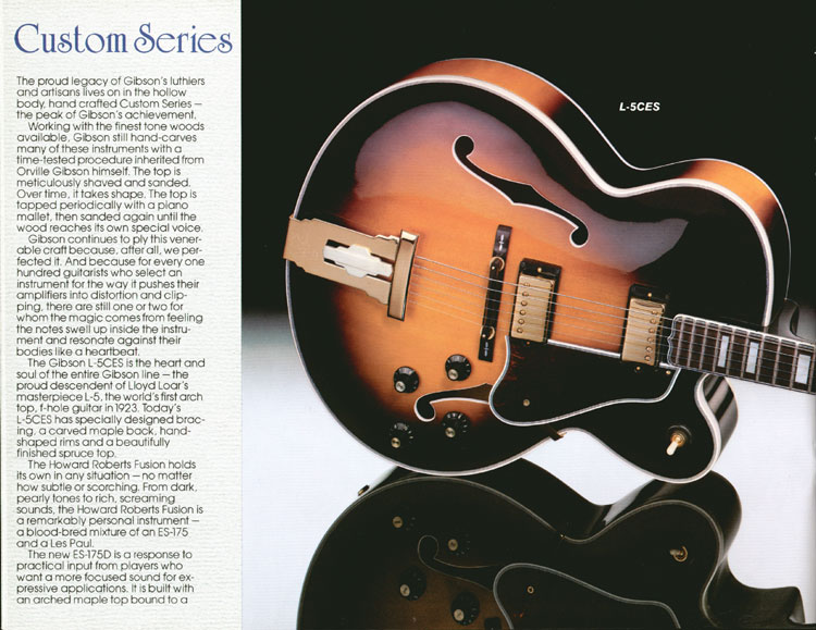 1983 Gibson guitar and bass catalogue page 16 - Gibson L-5CES