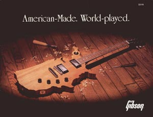 1983 Gibson catalogue. American-made. World-played.