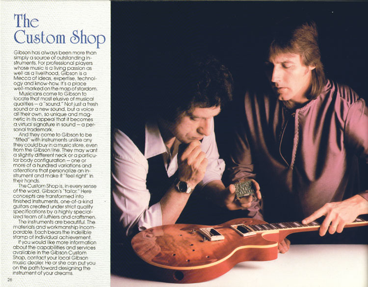 1983 Gibson guitar and bass Guitar Catalogue Page 26 - Custom Shop