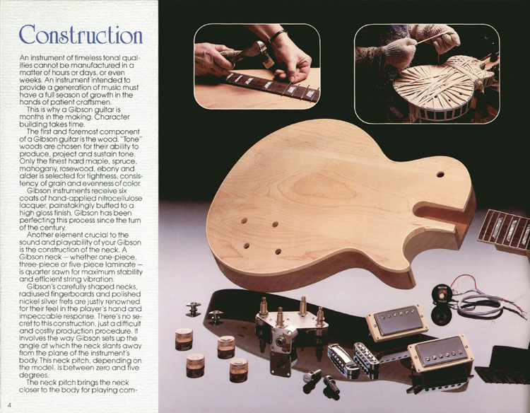 1983 Gibson guitar and bass catalogue page 4
