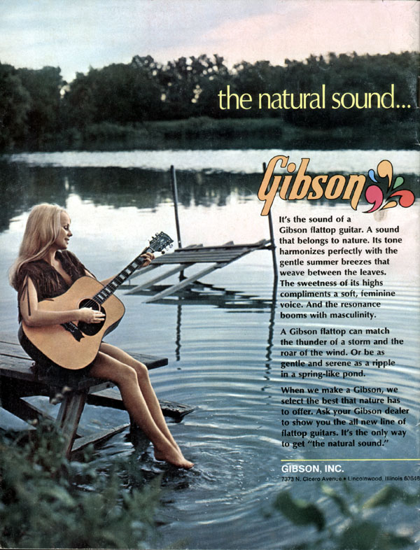 Gibson advertisement (1972) The Natural Sound