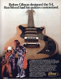 Gibson S-1 - Before Gibson Designed The S-1, Ron Wood Had His Guitars Customized