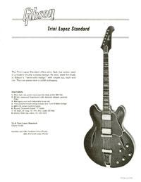 Gibson Trini Lopez Standard promo sheet