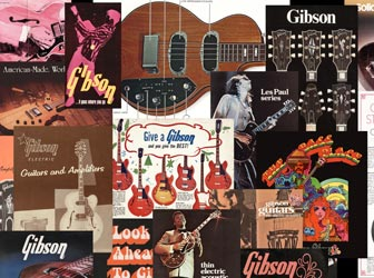 Gibson guitar catalogues 1950s-80s