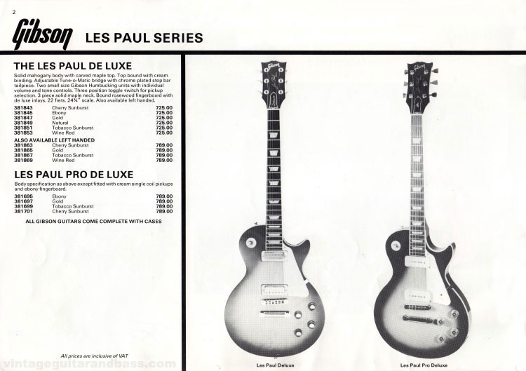 Les Paul Deluxe and Pro Deluxe