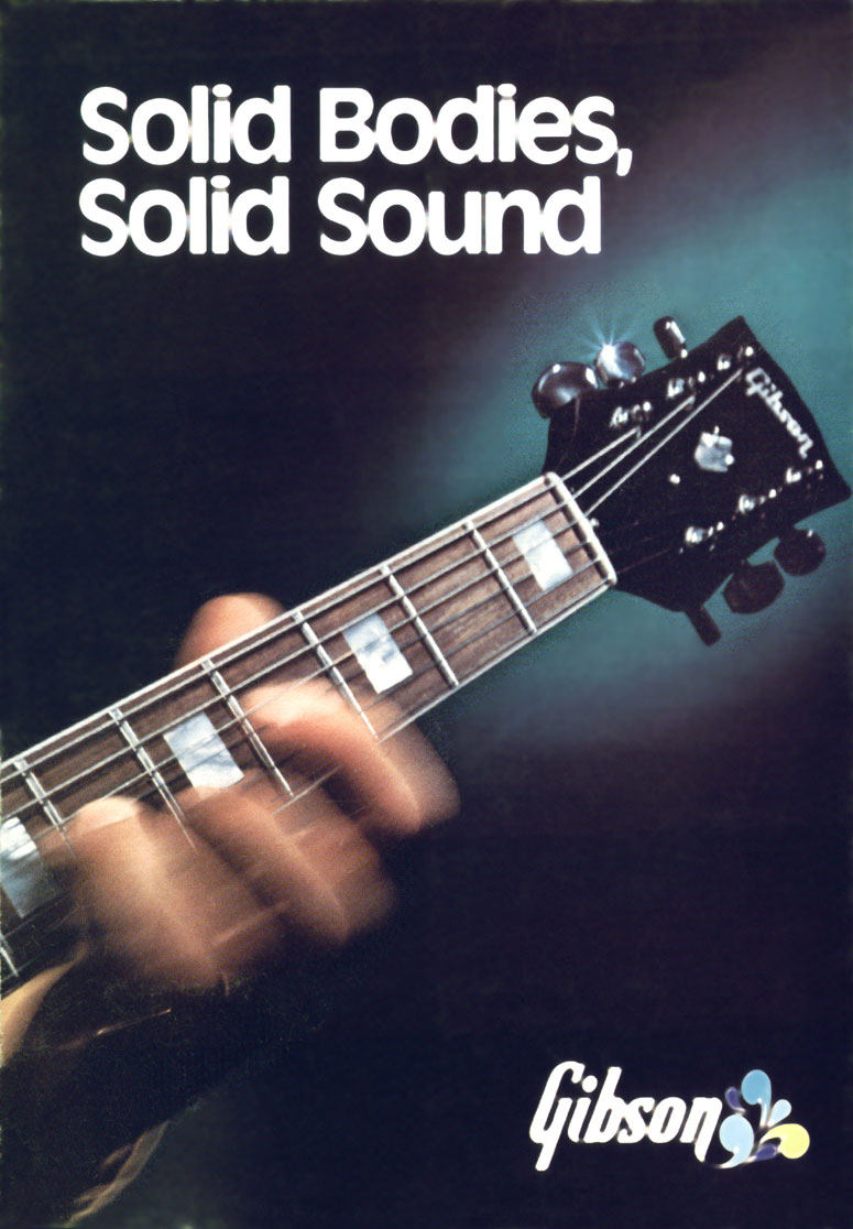 1972 Gibson solid bodies brochure - front cover