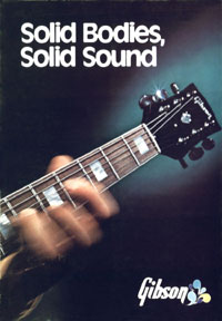 1972 Gibson Solid Bodies brochure