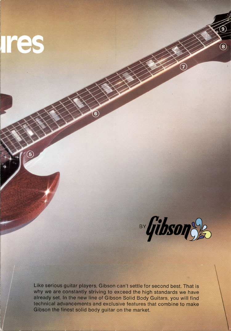 1972 Gibson solid bodies brochure - page 3
