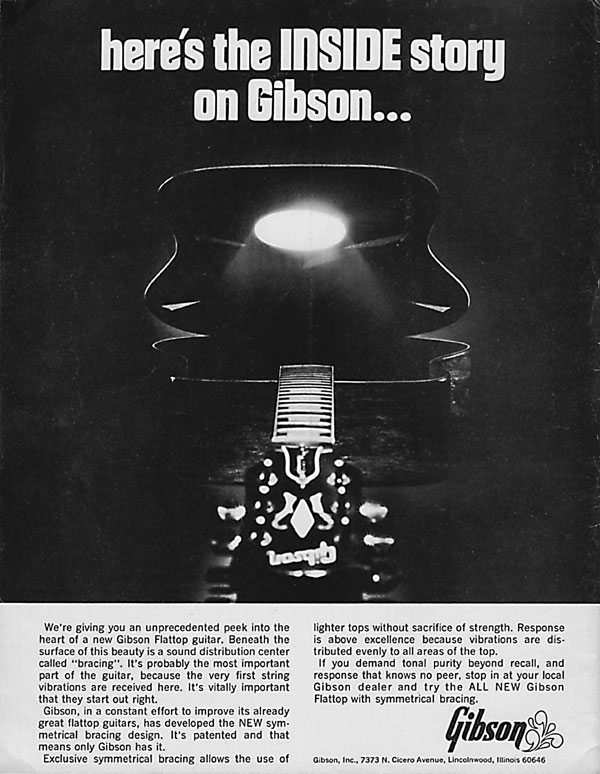 Gibson advertisement (1971) Here