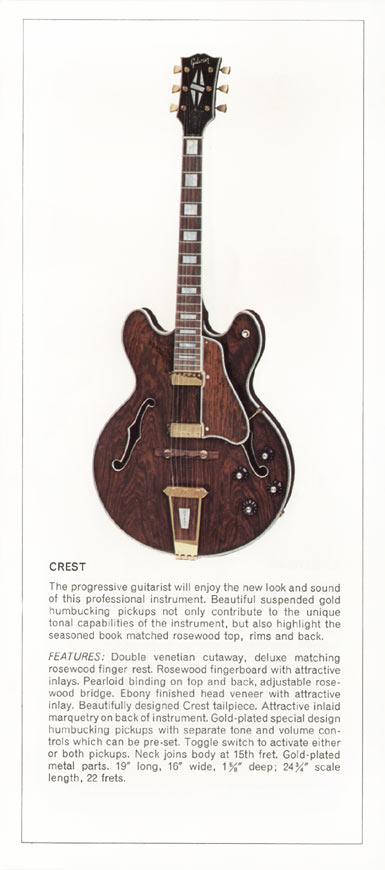 1970 Gibson thinline catalogue page 3 - Gibson Crest