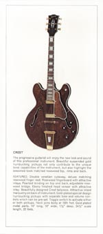 1970 Gibson thinline catalogue page 3