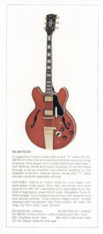 1970 Gibson thinline catalogue page 4