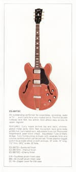 1970 Gibson thinline catalogue page 7