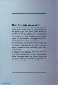 1975 Gibson thinline catalogue page 2