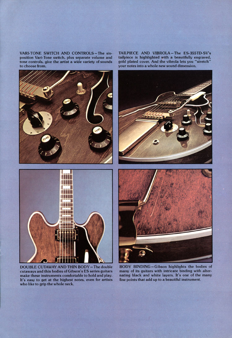 1975 Gibson thinline catalogue page 3