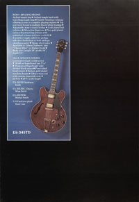 1975 Gibson thinline catalogue page 6