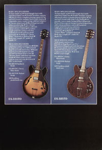 1975 Gibson thinline catalogue page 7