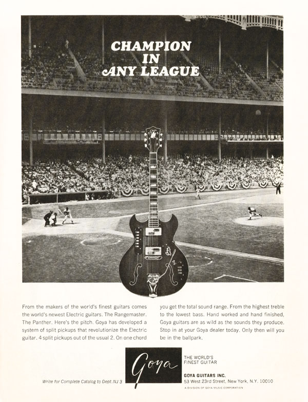 Goya advertisement (1966) Champion in Any League