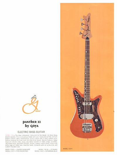 1966 Goya guitar catalogue page 10