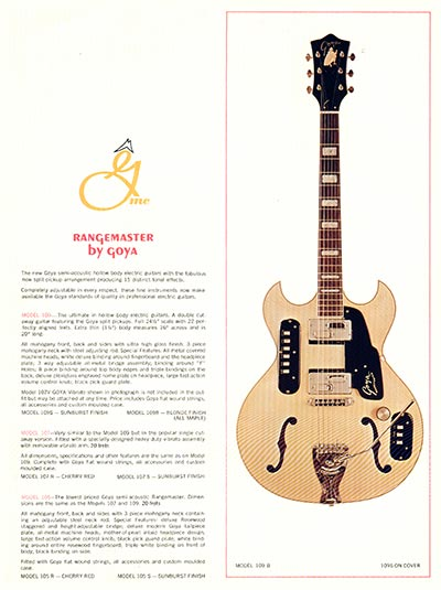 1966 Goya guitar catalogue page 4