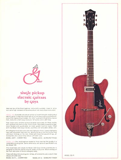 1966 Goya guitar catalogue page 6