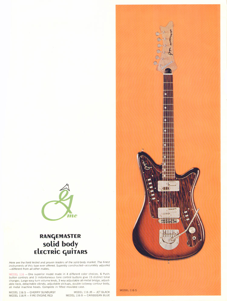 1966 Goya guitar catalogue page 8 - Viking / Scandia